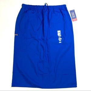 Cherokee Modern Classic Skirt Blue L Scrubs 5409